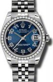 Rolex Datejust 178384 blcaj 31mm Steel and White Gold