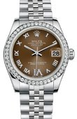 Rolex Datejust 178384 Bronze 31mm Steel and White Gold