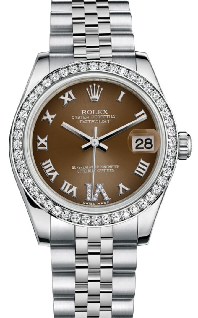 Rolex 178384 Bronze Datejust 31mm Steel and White Gold