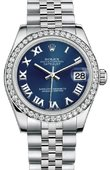 Rolex Datejust 178384 blrj 31mm Steel and White Gold