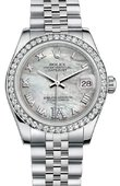 Rolex Datejust 178384 mdrj 31mm Steel and White Gold