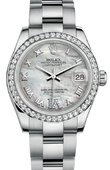Rolex Datejust 178384 mdro 31mm Steel and White Gold