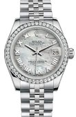 Rolex Datejust 178384 mrj 31mm Steel and White Gold
