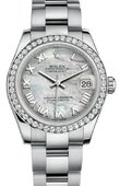 Rolex Datejust 178384 mro 31mm Steel and White Gold
