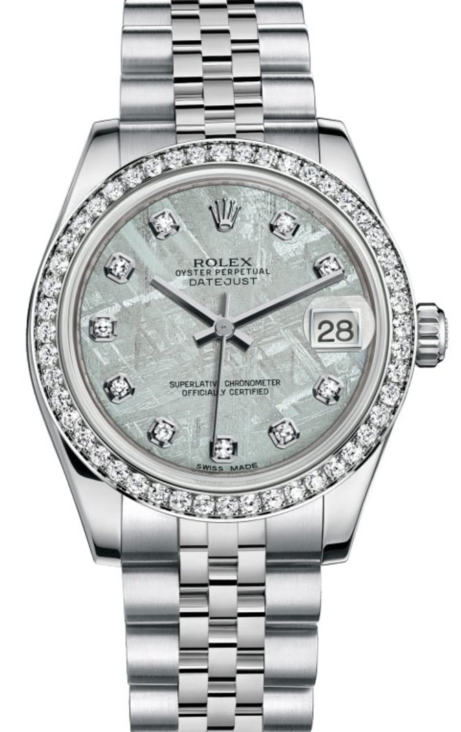 Rolex 178384 mtdj Datejust 31mm Steel and White Gold