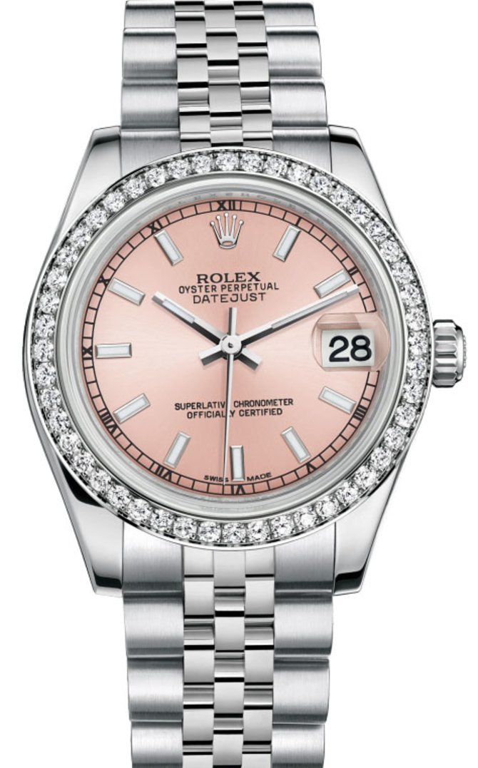 Rolex 178384 pij Datejust 31mm Steel and White Gold