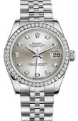 Rolex Datejust 178384 sdj 31mm Steel and White Gold