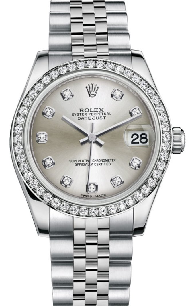 Rolex 178384 sdj Datejust 31mm Steel and White Gold