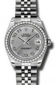 Rolex Datejust 178384 scaj 31mm Steel and White Gold