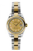 Rolex Datejust Ladies 179163 chgdmdo 26mm Steel and Yellow Gold