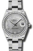 Rolex Datejust 178384 wgdmdao 31mm Steel and White Gold