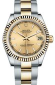 Rolex Datejust 178273 chio 31mm Steel and Yellow Gold