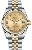 Rolex Datejust 178273 chrj 31mm Steel and Yellow Gold