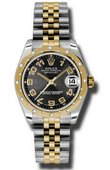 Rolex Datejust 178343 bkcaj 31mm Steel and Yellow Gold