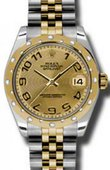 Rolex Datejust 178343 chcaj 31mm Steel and Yellow Gold