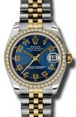 Rolex Datejust 178383 blcaj 31mm Steel and Yellow Gold