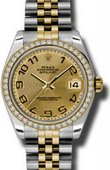 Rolex Datejust 178383 chcaj 31mm Steel and Yellow Gold