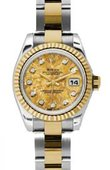 Rolex Datejust Ladies 179173 ygcdo 26mm Steel and Yellow Gold