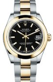 Rolex Datejust 178243 bkio 31mm Steel and Yellow Gold