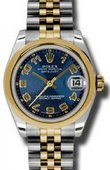 Rolex Datejust 178243 blcaj 31mm Steel and Yellow Gold