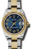 Rolex Datejust 178243 blcao 31mm Steel and Yellow Gold
