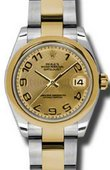 Rolex Datejust 178243 chcao 31mm Steel and Yellow Gold