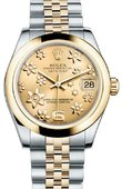 Rolex Datejust 178243 chfj 31mm Steel and Yellow Gold