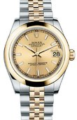 Rolex Datejust 178243 chij 31mm Steel and Yellow Gold