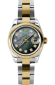 Rolex Datejust Ladies 179163 dkmdo 26mm Steel and Yellow Gold
