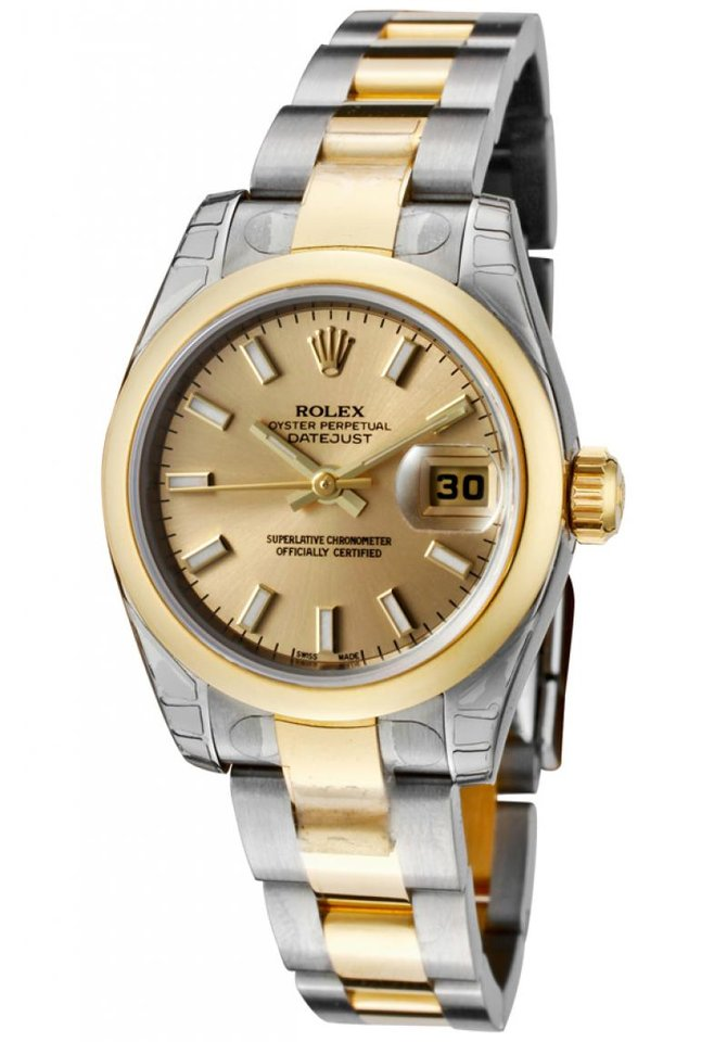 Rolex 179163 chso Datejust Ladies 26mm Steel and Yellow Gold - фото 1