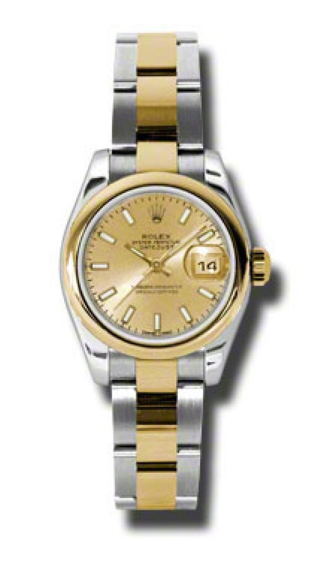 Rolex 179163 chso Datejust Ladies 26mm Steel and Yellow Gold - фото 2