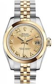 Rolex Datejust Ladies 179163 chrj 26mm Steel and Yellow Gold