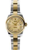 Rolex Datejust Ladies 179163 chjdo 26mm Steel and Yellow Gold