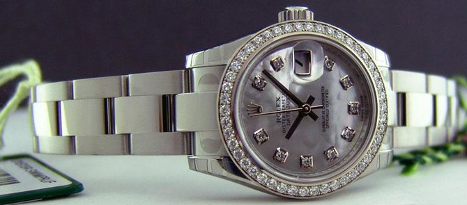 Rolex 179384 mdo Datejust Ladies 26mm Steel and White Gold - фото 6