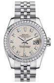 Rolex Datejust Ladies 179384 Ivory 26mm Steel and White Gold