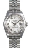 Rolex Datejust Ladies 179174 wrj 26mm Steel and White Gold