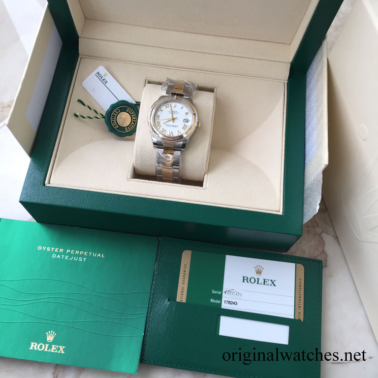 178243 wro Rolex 31mm Steel and Yellow Gold Datejust