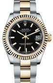 Rolex Datejust 178273 bkio 31mm Steel and Yellow Gold