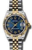 Rolex Datejust 178273 blcaj 31mm Steel and Yellow Gold