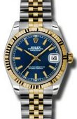 Rolex Datejust 178273 blij 31mm Steel and Yellow Gold