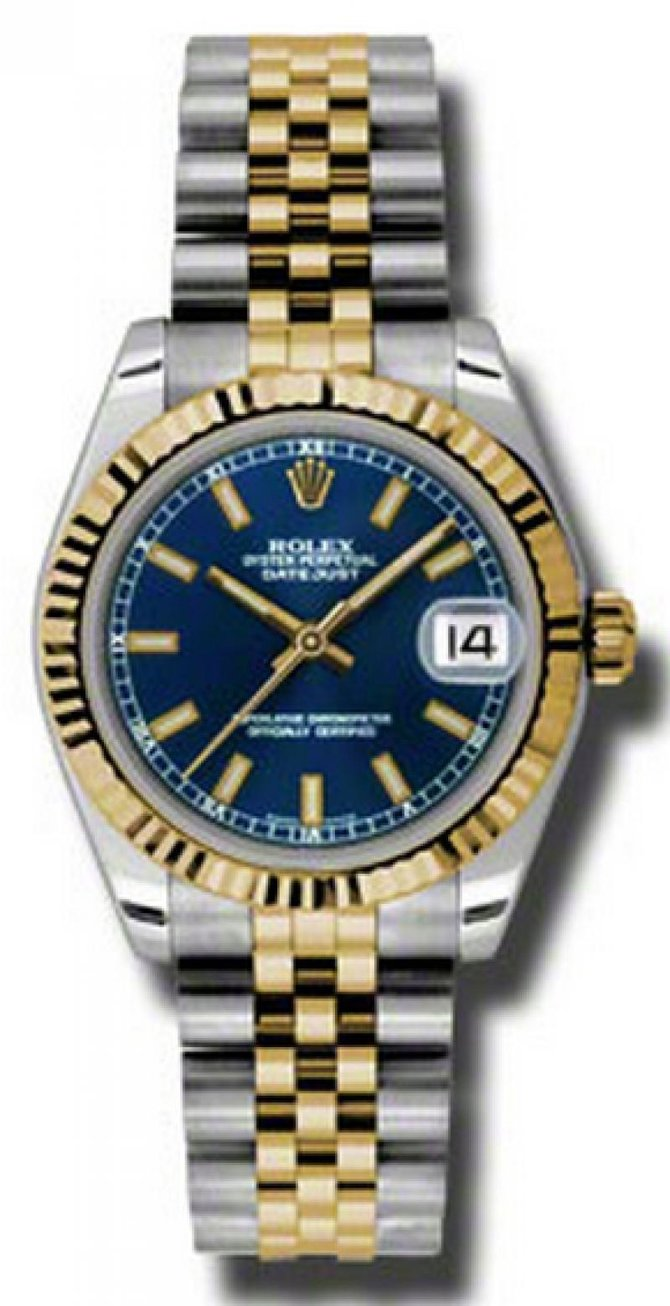 Rolex 178273 blij Datejust 31mm Steel and Yellow Gold - фото 1