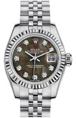 Rolex Datejust Ladies 179174 dkmdj 26mm Steel and White Gold