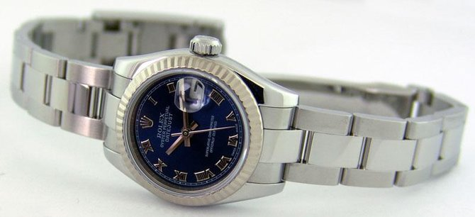 Rolex 179174 blro Datejust Ladies 26mm Steel and White Gold - фото 5