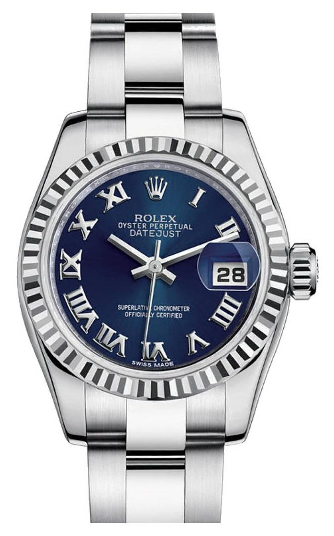 Rolex 179174 blro Datejust Ladies 26mm Steel and White Gold - фото 1