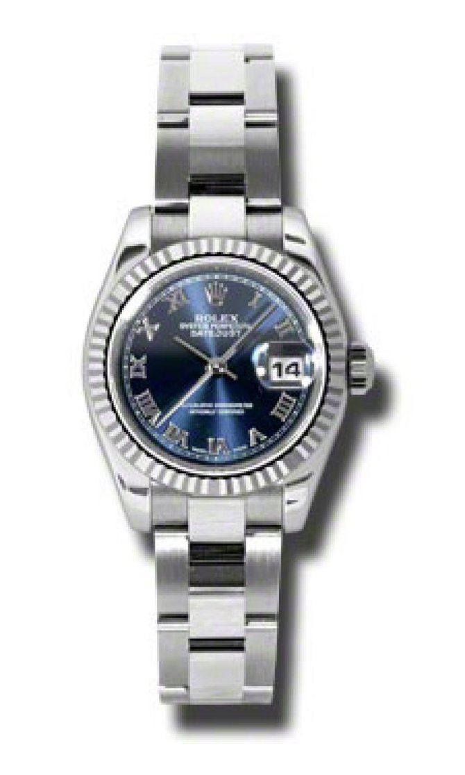 Rolex 179174 blro Datejust Ladies 26mm Steel and White Gold - фото 3
