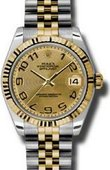 Rolex Datejust 178273 chcaj 31mm Steel and Yellow Gold