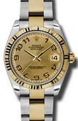Rolex Datejust 178273 chcao 31mm Steel and Yellow Gold