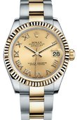 Rolex Datejust 178273 chro 31mm Steel and Yellow Gold