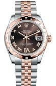 Rolex Datejust Ladies 178341 Chocolate Jubilee 31mm Steel and Gold Everose