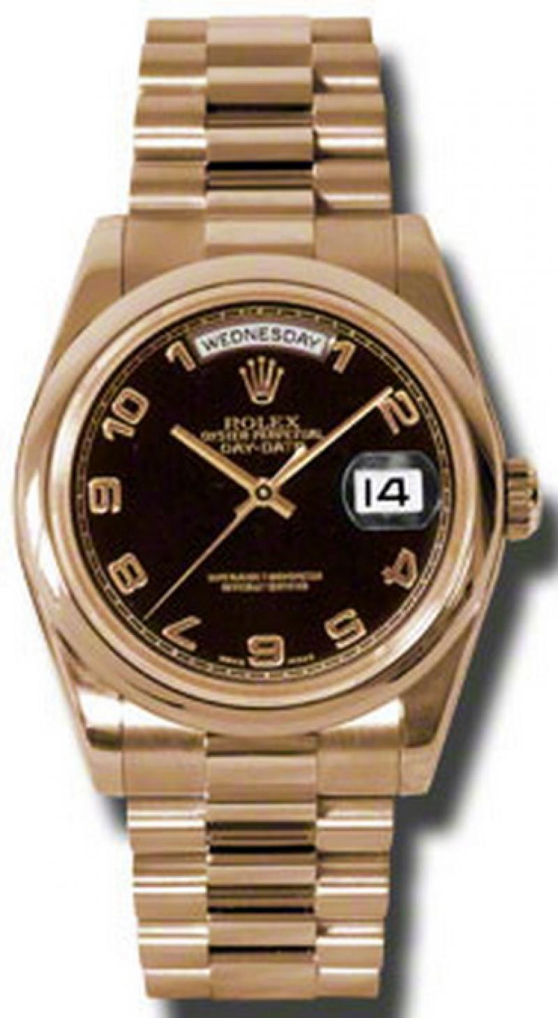118205 black Rolex Everose Gold Day-Date